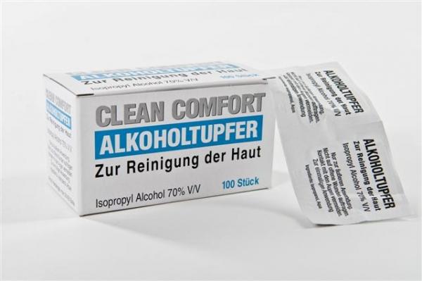 Alkoholtupfer 6x3 cm