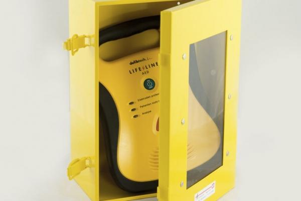 Wandschrank für Defibrillator
